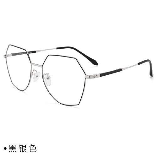 CFLFDC Sonnenbrillen Myopia Glasses Frame Glasses Frauen Net Rot Vegetarisch Yen Xian Gesicht Dünn Mit Myopie-spiegel-rahmen Mann 1,56 (dünner) Schwarzes Silber
