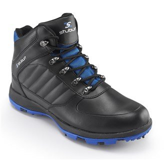 Stuburt Golf 2016 Cyclone Event Mid Cut Lightweight Mens Golf Winter Boots - Waterproof Black/Blue 13UK