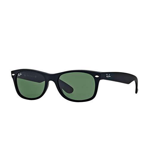 Ray-Ban Black Rubber Green Klassische G-15 55mm RB2132 New Wayfarer-Sonnenbrille