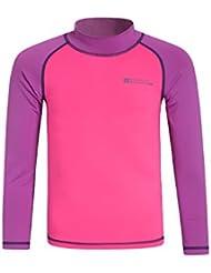 Mountain Warehouse Rash T-Shirt Top Enfants Manches Longues Léger Protection UV Plage Mer Vacances