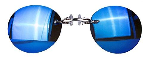 Nasenkneifer Sonnenbrille / Zwickel in verschiedenen Farben (One Size, blau verspiegelt)