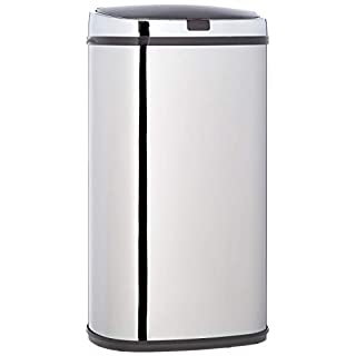 Morphy Richards Chroma Square Sensor Bin with Infrared Technology, Stainless Steel, 42 Litre