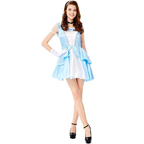 TTWL Halloween Kostüm Damen M-L Court White Snow Princess Spiel Anime Cosplay Bühnenperformance L