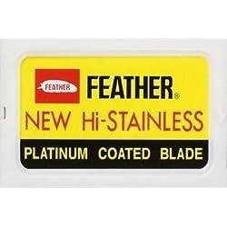 10 cuchillas de afeitar Feather New Hi-Stainless (1 paquete)