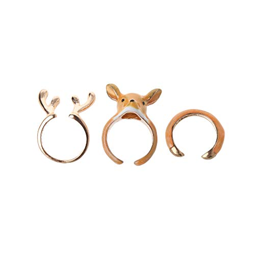 Kofun Ring, 12 Stück/Set Böhmische Vintage Frauen Fingerringe Set Punk Ring Geschenk A (Tray 12 Paint)