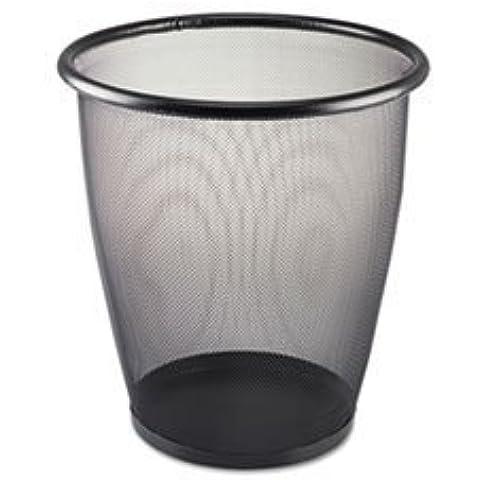 Safco 9717BL - Onyx Round Mesh Wastebasket, Steel Mesh, 5 gal, Black by Safco