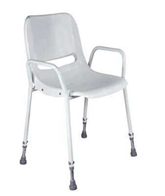 Aidapt Milton Shower Chair with Adjustable Height (Eligible for VAT relief in the UK) - low-cost UK light store.