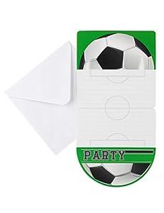Boland- Invitaciones Foot Party, 6 unidades, 10 x 20 cm, multicolor, BOL62513
