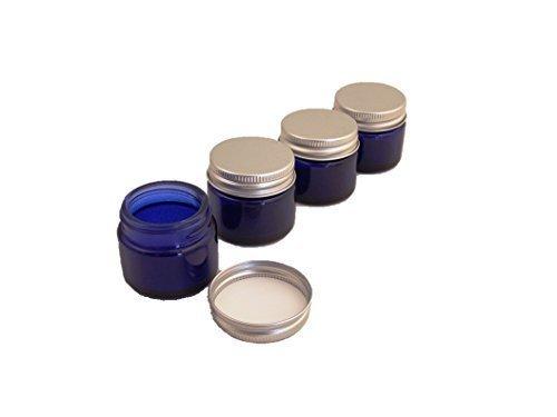 4er-packung-x-15ml-leer-blau-glasdose-mit-silber-aluminium-deckel-fur-aromatherapie-kosmetik-lippenb