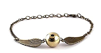 Harry Potter: Golden Snitch Bracelet or Necklace - SHIPPED FROM UK
