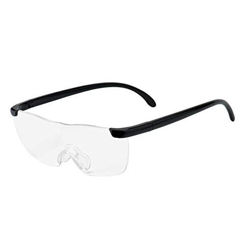Keepmoving Professional Vergrößerungs Freihand-Lupe Brille Überbrille Brillenlupe 160% +2.50 Lesebrille (Big Vision Brille)
