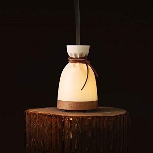 Schlaf-hilfe-spray (BUSONG LED Nachtlicht Tuchbeutel Stil Aromatherapie Maschine Spray Feuidifier Hilfe Schlaf Beruhigung Quiet Humidifier Bedroom Bedside Lampe)
