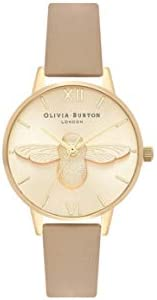 Olivia Burton Womens Quartz Watch, Analog Display and Leather Strap OB16AM150