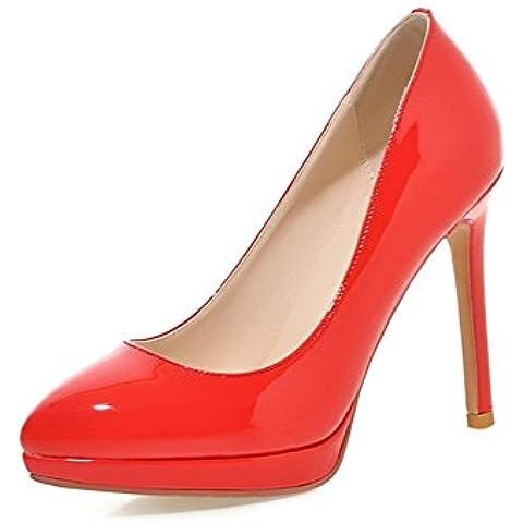 Tacchi altissimi/Acqua prova scarpe a punta/ sexy patent leather scarpe a spillo/ slim ragazze scarpe da sposa