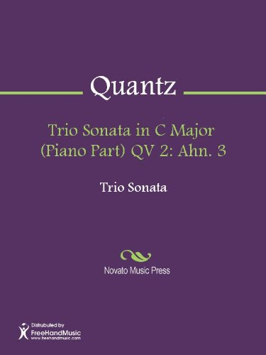Trio Sonata in C Major  (Piano Part) QV 2: Ahn. 3