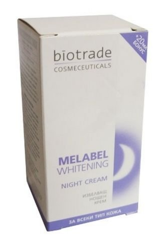 MELABEL EXFOLIATING WHITENING CREAM with Kojic & Glycolic acids * Quick Results in Dark Spots and Freckles - Visibly Lightens Dark Spots & Flattens and Improves Overall Complexion * Anti-Age * 30ml