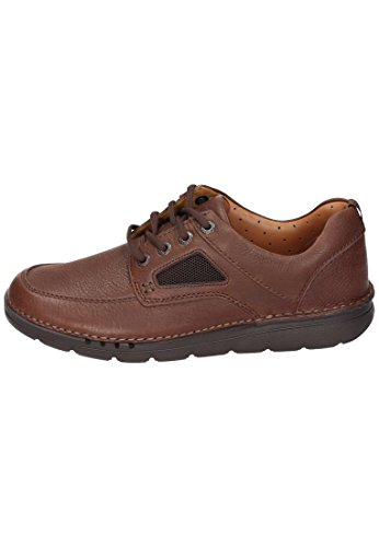 Clarks Unnature Time, Derby Homme Marron (Brown Leather)