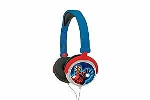 Marvel- Avengers, Vengadores-Cascos Audio, Auriculares estéreo con Diadema Ajustable y Plegable (Lexibook HP010AV), Color Azul, 20.4 x 16.8 x 7.3 cm (