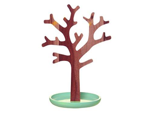 Present-Time-PT-Home-Acacia-soporte-para-joyas-rbol-de-Base-y-verde-menta