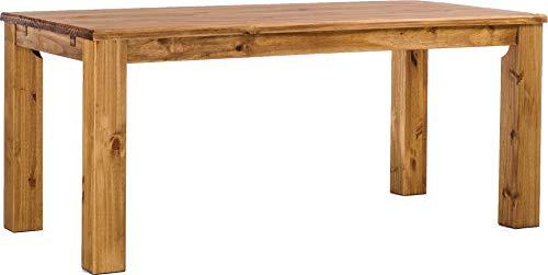 Brasilmöbel Esstisch Rio Classico 180x90 cm Brasil Massivholz Pinie Holz Esszimmertisch Echtholz Größe und Farbe wählbar ausziehbar vorgerichtet für Ansteckplatten