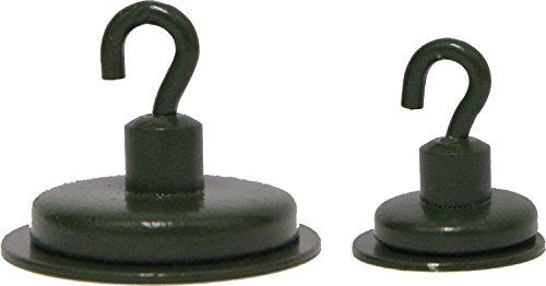 2 Pelzer Bivvy Magnete für Zelt Dome zum Aufängen von Lampen, Receivern und anderem Angelzubehör