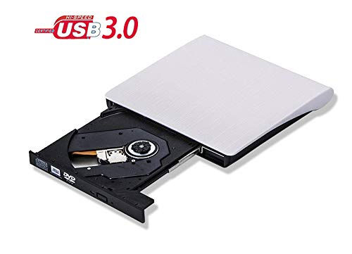 Externes Laufwerk USB 3.0 Externe DVD CD DVD-RW Brenner Targbaren Slim Optische Laufwerk für Windows 7/8 / 10 / Vista/XP, Apple MacBook/iMac, alle Laptop/Desktop - Conhee - Weiß