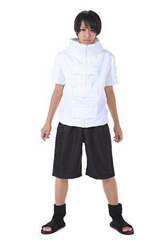 me Hidden Leaf Village Genin Hyuga Neji Outfit Set V1 (Naruto Cosplay Kostüme Uk)
