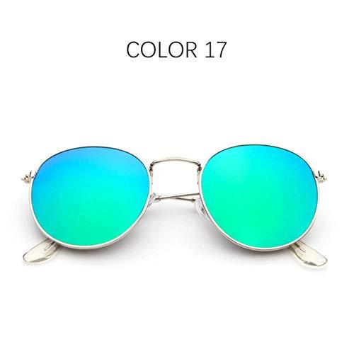Loving Bird Liebevoller Vogel Vintage Runde Sonnenbrille Frauen 2019 Markendesigner Sonnenbrille Männer Retro Kleine Metall Schwarze Sonnenbrille für Damen Brillen 3447, Farbe 17