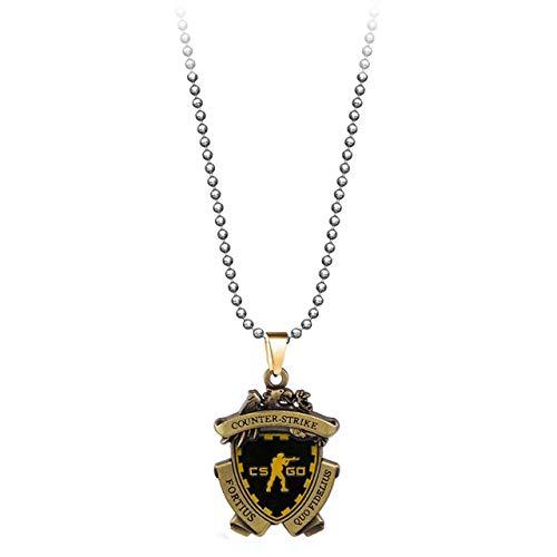 DADATU Halsketten für Herren Spiel Cs Go Medaille Halskette Männer Metalllegierung Counter Strike Csgo Anhänger Halskette Frauen Schmuck Fans Geschenk Souvenir Kolye - Counter Strike Kostüm