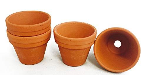 Bastel Terracotta Blumentöpfe Mini 20 Stück Ø2,2cm x H2cm Tontöpfe Basteltöpfe
