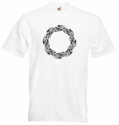 T-Shirt Herren Blase feuer Weiß