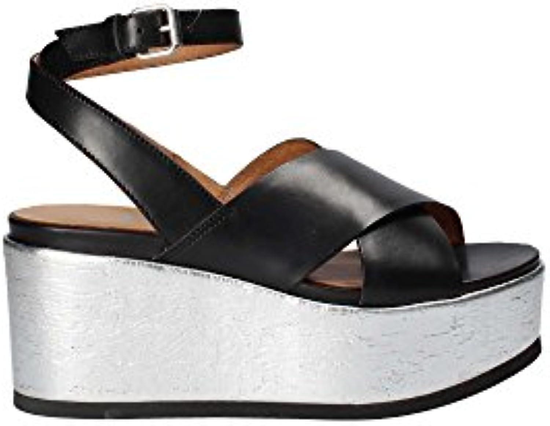 Janet Sport 41830 Sandalo Zeppa Donna Nero 40 | Facile Da Pulire Surface  | Scolaro/Ragazze Scarpa