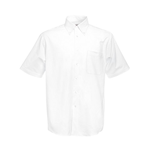 Fruit of the Loom Men's Oxford Short Sleeve Shirt