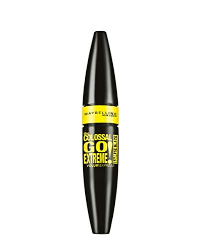 Maybelline New York - Mascara volumizzante Volum' Express The Colossal Go Extreme, Leather Black, 1 pz. (1 x 9,5 ml)