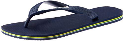 Havaianas Brasil Logo Zehentrenner Unisex-Erwachsene, Azul Navy Blue, 41/42 EU 6.5 UK
