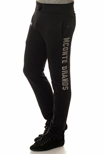 M.Conte Men Sweat Pants Uomo Jogging Pantaloni in Felpa Rocco nero XXL