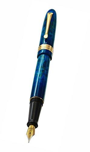 Xezo Phantom Nebula Fountain Brass Pen, Limited-Edition of 500, Individually Numbered, Screw-On Cap, 18-Karat Gold Plated, Medium Nib (Phantom 500 Nebula F) Online