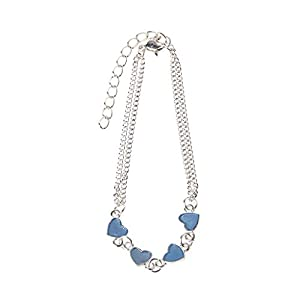 Fivekim Armbänder für Damen Luminous Heart Armbänder Light Up Fußkettchen Blue Fluorescent Jewelry Leuchten in Dark Green & Blue Luminous Effect
