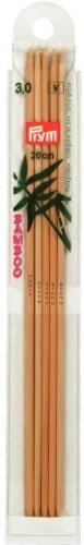 Prym INOX INOX Bambus Strumpf- und Handschuhstricknadeln 15cm und 20cm 3.0/20cm