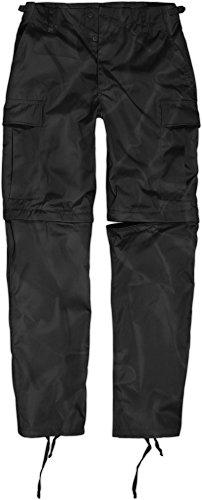 normani Zip Off BDU Feldhose mit per Reißverschluss abtrennbaren Hosenbeinen Farbe Schwarz Größe S -