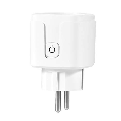 OWSOO 1PCS Enchufe Inteligente WiFi, 90-250V, Enchufe Inalámbrico, Smartplug, Soporta Temporizador, Compatible con Amazon Echo, Google Home, Tmall, etc