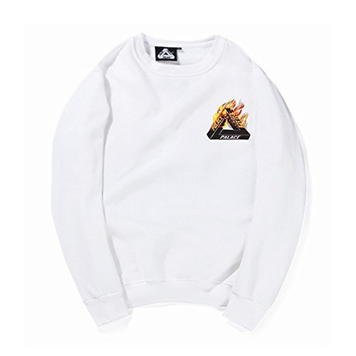 ZEARO Sweatshirt Herren Palace Hoodie mit Aufdruck Pullover Fitness Hip hop Streetwear Sweater Langarm Mode Fashion Tops Baumwolle (Hop Hoodie Hip)