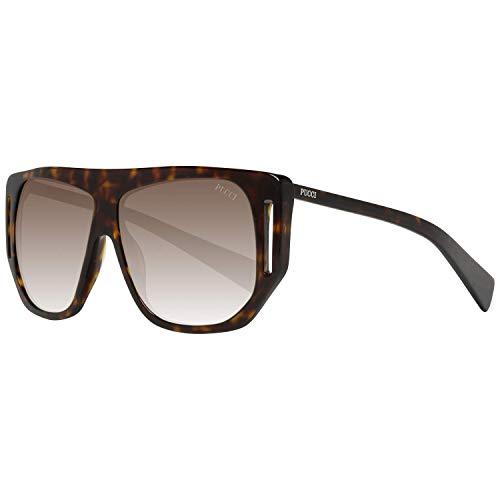 Emilio Pucci Unisex-Erwachsene EP0077 52K 57 Sonnenbrille, Braun (Avana Scura/Roviex Grad),