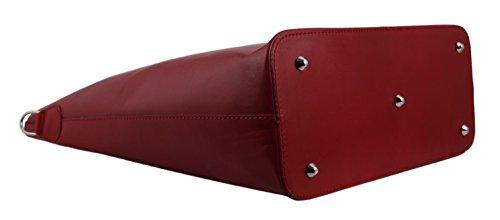 Slingbag Lucia XL Shopper / Beuteltasche / Einkaufstasche aus echtem Leder / FARBAUSWAHL Rot