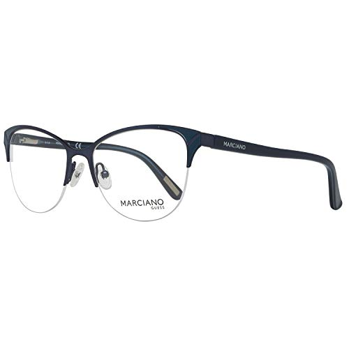 Guess Damen by Marciano Brille Gm0290 52091 Brillengestelle, Blau, 52