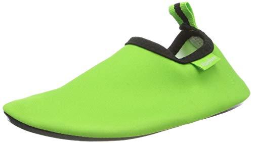 Playshoes Unisex-Kinder Badeslipper, Badeschuhe Uni Aqua Schuhe, Grün (grün), 20/21 EU