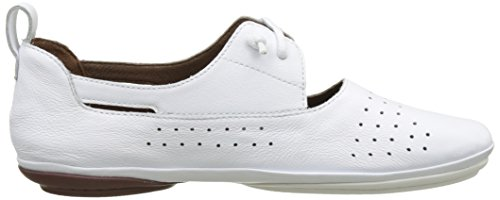 Camper Right Nina, Scarpe Stringate Basse Brogue Donna Bianco (White Natural 002)