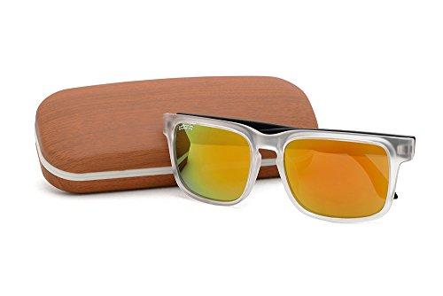 Catania Occhiali Gafas de Sol Polarizadas - Estilo: Wayfarer Classic (UV400) - Incluye Funda y Toallita de Limpieza