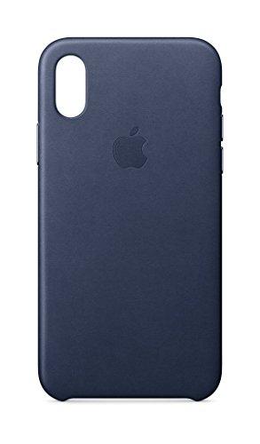 Apple Funda Leather Case (para el iPhone X) - Azul noche