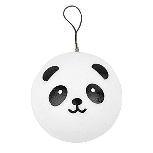 Beetest® 2 Pz 4cm Kawaii Panda Squishy Buns Cell Phone Charms / Bag Strap Pendant / Borsa Ciondolo Portachiavi / Kawaii Cellulari Charms Decorazioni Ornamenti, Casuale Stile